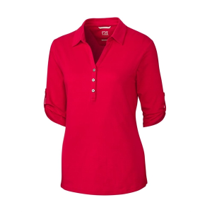 Cutter & Buck Ladies' Elbow Sleeve Thrive Polo