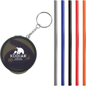 Reusable Silicone Straw Keychain